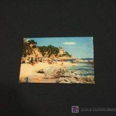 Postales: POSTAL PLAYA. AL FONDO LA CALETA - COSTA BRAVA - LLORET DE MAR - GIRONA - . Lote 17046333