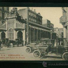 Postales: POSTAL DE BARCELONA R.S.A. APEADERO DEL PASEO DE GRACIA. Lote 19550753