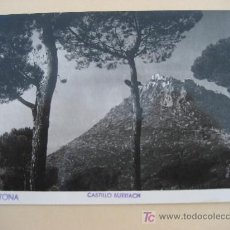 Postales: ARGENTONA. BARCELONA. CASTILLO BURRIACH. FOTO A. GUELL. CIRCULADA 1953. Lote 22506827