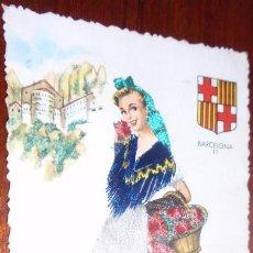 Postales: POSTAL BARCELONA BORDADA. Lote 22720623