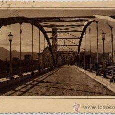 Postales: TORTOSA(TARRAGONA).-PUENTE DE TRÁNSITO SOBRE EL RÍO EBRO. Lote 16326066