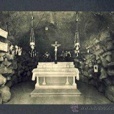 Postales: POSTAL D' ARENYS DE MUNT (BARCELONA): VISTA INTERIOR DE LA GRUTA DE LOURDES (ED.FOTOGRAFICA). Lote 16332811