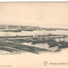 Postales: BARCELONA. PANORAMA DE BARCELONA IV. HAUSER Y MENET.. Lote 27255535