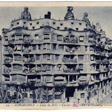 Postales: EXTRAORDINARIA POSTAL - BARCELONA - CASA DE MILE Y CAMPS (ARQUITECTO A. GAUDI). Lote 16646338