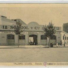 Postales: (PS-14719)POSTAL DE BARCELONA-TALLERES SOUJOL.ENTRADA Y FACHADAS. Lote 16675980