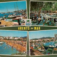 Postales: ARENYS DE MAR (COSTA DORADA - BARCELONA) - VARIOS ASPECTOS. Lote 155704056