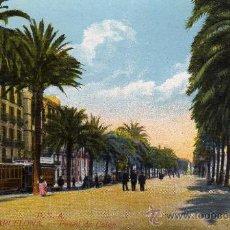 Postales: BARCELONA,PASEO DE COLON.POSTAL NO CIRCULADA. Lote 24618710