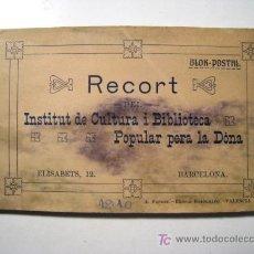 Postales: INSTITUT CULTURA I BIBLIOTECA POPULAR PERA LA DONA - ALBUM 12 POSTALES. Lote 16898290