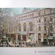 Postales: POSTAL BARCELONA: TEATRO DEL LICEO (THOMAS). Lote 16898331