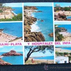 Postales: HOSPITALET DEL INFANTE Y MIAMI. LAS PLAYAS. FOTO: RAYMOND. Lote 26148332