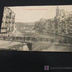 Postales: PUENTE DE SAN AGUSTIN - GERONA -. Lote 17176607