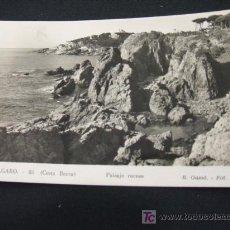 Postales: PAISAJE ROCOSO - S'AGARO - COSTA BRAVA - . Lote 17198838