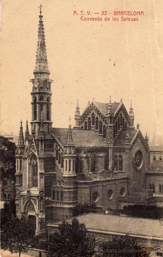 BARCELONA,CONVENTO DE LAS SALISAS.VER FOTO ADICIONAL (Postales - España - Cataluña Antigua (hasta 1939))