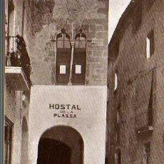 Postales: POSTAL DE CALDAS DE MONTBUY -TERMAS VICTORIA -ESTRADA A LA ANTIGUA CALLE DE VICH-HOSTAL DE LA PLAZZA. Lote 23250955