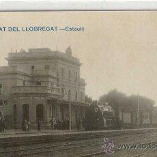 Postales: (PS-15263)POSTAL FOTOGRAFICA DE EL PRAT DE LLOBREGAT-ESTACION DEL FERROCARRIL. Lote 17442180