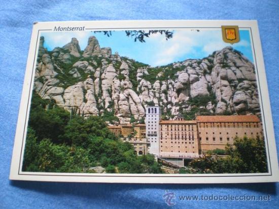POSTAL MONTSERRAT MONASTERIO NO CIRCULADA (Postales - España - Cataluña Moderna (desde 1940))