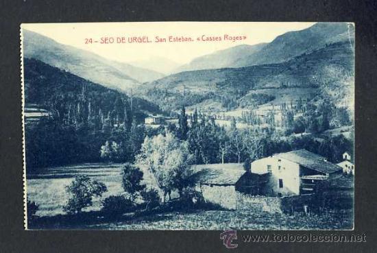 POSTAL DE LA SEU D' URGELL (LLEIDA): SANT ESTEVE. CASES ROGES (ED.MARAVILLA NUM.24) (Postales - España - Cataluña Antigua (hasta 1939))