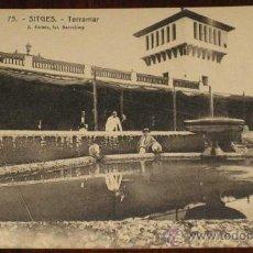 Postales: ANTIGUA POSTAL DE SITGES - TERRAMAR - Nº 75 - FOT. L. ROISIN - NO CIRCULADA.. Lote 18342409