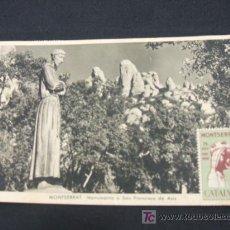 Postales: MONTSERRAT - MONUMENTO A SAN FRANCISCO DE ASIS - CON VIÑETA Y MATASELLOS DEL 75 ANIVERSARIO - . Lote 26835855