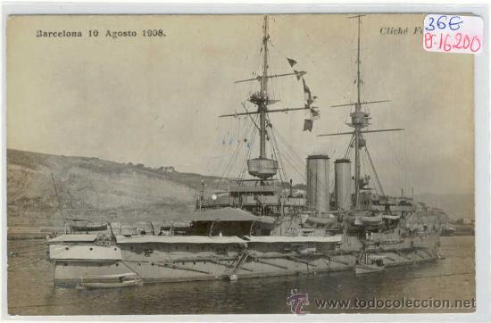 (PS-16200)POSTAL FOTOGRAFICA DE BARCELONA-MANIOBRAS 10 DE AGOSTO 1908 (Postales - España - Cataluña Antigua (hasta 1939))