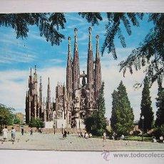 Postales: BARCELONA. SAGRADA FAMILIA. ED. A. ZERKOWITZ. CIRCULADA EN 1976. Lote 18681276