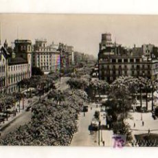 Postales: BARCELONA. PLAZA UNIVERSIDAD Y AVENIDA JOSE ANTONIO. POSTAL PANORÁMICA. (ZERKOWITZ). 22,5 X 9 CM. . Lote 18685009