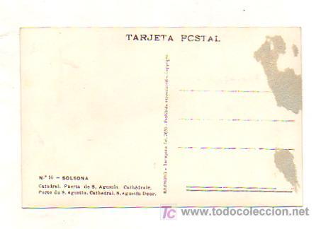 Postales: SOLSONA. CATEDRAL. PUERTA DE SAN AGUSTÍN. (ED. RAYMOND) - Foto 2 - 18685734