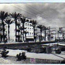 Postales: BARCELONA. BADALONA. NUM 42. DETALLE DE LA RAMBLA Y HOTEL MIRAMAR. EXCLUSIVAS PLANA. CIRCULADA.. Lote 18841872