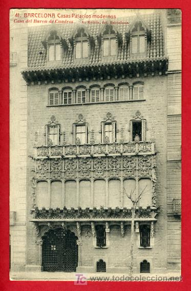 barcelona, casas palacios modernos, casa del ba - Comprar Postales ...