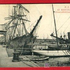 Postales: BARCELONA, GRUAS ELECTRICAS DEL PUERTO, P37664. Lote 18856143