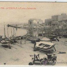 Postales: (PS-16404)POSTAL DE LA ESCALA-LA PUNTA Y SALVAVIDAS. Lote 18874149