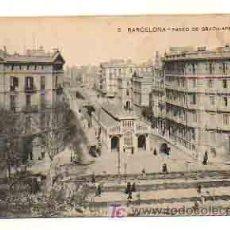 Postales: BARCELONA. PASEO DE GRACIA. APEADERO. . Lote 18957925