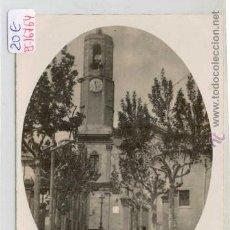 Postales: (PS-16764)POSTAL FOTOGRAFICA DE BADALONA-ESGLESIA. Lote 19047131