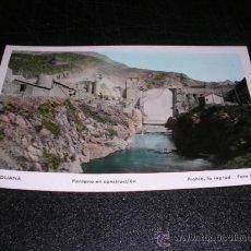 Postales: 10 .-OLIANA ,PANTANO EN CONSTRUCCION,FOTO,JANOT-14X9 CM.. Lote 19139079