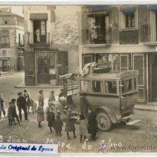 Postales: (PS-17421)POSTAL FOTOGRAFICA DE MORA DE EBRO(TARRAGONA)-CALLE SAN JUAN.PARADA AUTOMOVIL DE GANDESA. Lote 19454532
