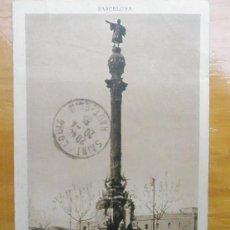 Postales: POSTAL ANTIGUA BARCELONA CIRCULADA.MONUMENTO A COLON.VER FOTO ADICIONAL. Lote 19769043
