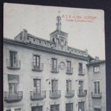 Postales: GERONA. CASAS CONSISTORIALES – ED. ÁNGEL TOLDRÁ VIAZO – BARCELONA. Lote 25642810