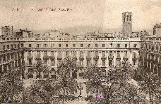POSTAL ANTIGUA BARCELONA - PLAZA REAL *VER FOTO ADICIONAL* (Postales - España - Cataluña Antigua (hasta 1939))