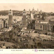 Postales: BARCELONA - PLAZA DE ESPAÑA (1929) *VER FOTO ADICIONAL*. Lote 26648152