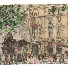 Postales: BARCELONA. LA RAMBLA Y TEATRO DEL LICEO. (Nº 16). . Lote 20605901