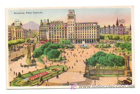 BARCELONA. PLAZA CATALUÑA. (Postales - España - Cataluña Antigua (hasta 1939))