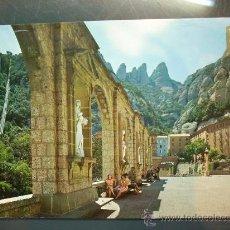 Postales: 4679 ESPAÑA SPAIN CATALUÑA BARCELONA MONTSERRAT PLAZA DEL SANTUARIO AÑOS 60 - TENGO MAS POSTALES. Lote 20686407
