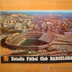 Postales: POSTAL BARCELONA ESTADI F.C. BARCELONA VISTA AERIA SIN CIRCULAR . Lote 20722321