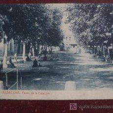 Postales: ULLDECONA. (TARRAGONA). PASEO DE LA ESTACION. Lote 20776235
