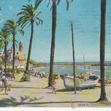 Postales: SITGES. LUMINOSO PASEO DE LA RIBERA. MAS COLECCIONSIMO Y POSTALES EN RASTRILLOPORTOBELLO. Lote 20827212