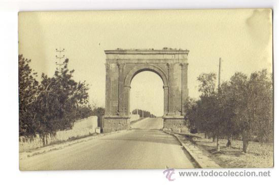 ARCO DE BARA - RODA DE BARA (TARRAGONA) - PASO DE LA CARRETERA POR EL ARCO (Postales - España - Cataluña Antigua (hasta 1939))