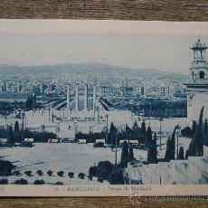 Postales: POSTAL BARCELONA FOT. ROISIN PARQUE DE MONTJUICH. Lote 21533082