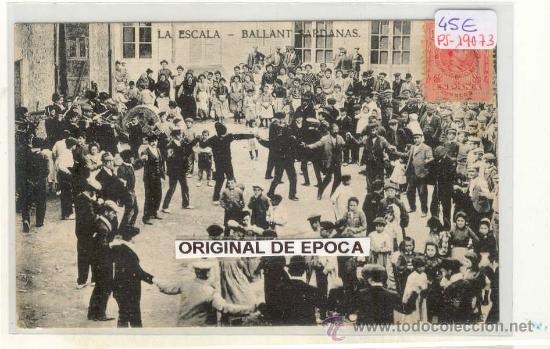 (PS-19073)POSTAL DE LA ESCALA-BALLANT SARDANAS (Postales - España - Cataluña Moderna (desde 1940))