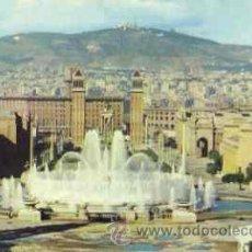 Postales: BARCELONA - PARQUE DE MONTJUICH: SURTIDOR GIGANTE. Lote 21713204