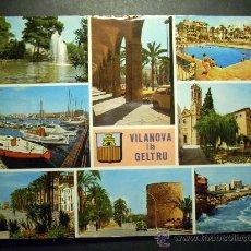 Postales: 6498 ESPAÑA SPAIN CATALUÑA BARCELONA VILLANUEVA Y GELTRU COSTA DORADA AÑOS 60/70 TENGO MAS POSTALES. Lote 22355445